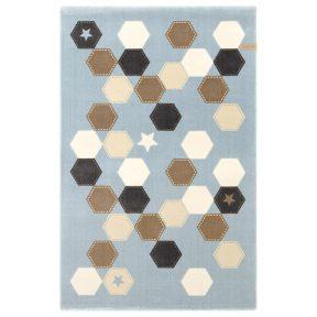 Παιδικό Χαλί 115X175 Saint Clair Polygon L.Blue