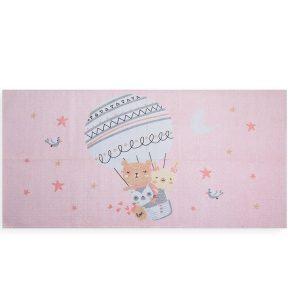 Παιδικό Χαλί 70×140 Nef Nef Trip To The World Pink